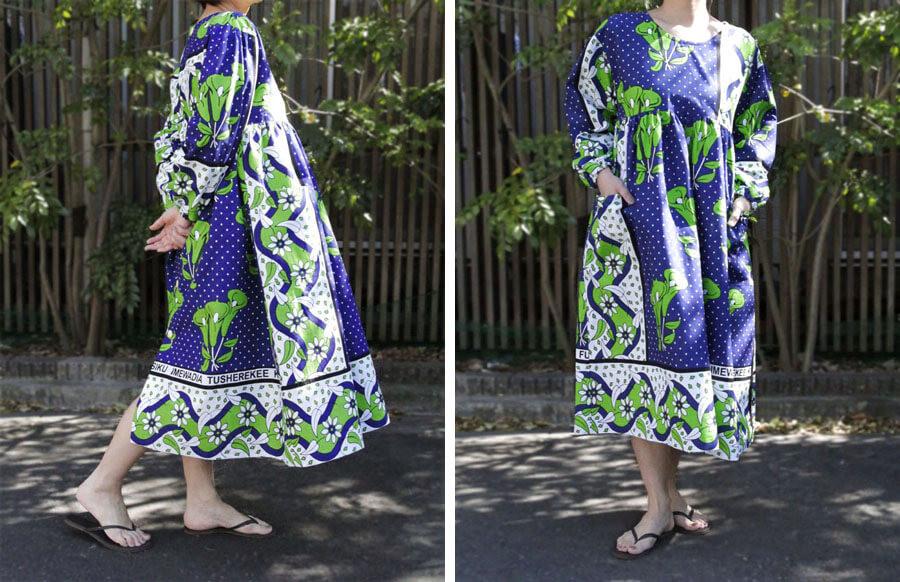 アフリカ布 ワンピース