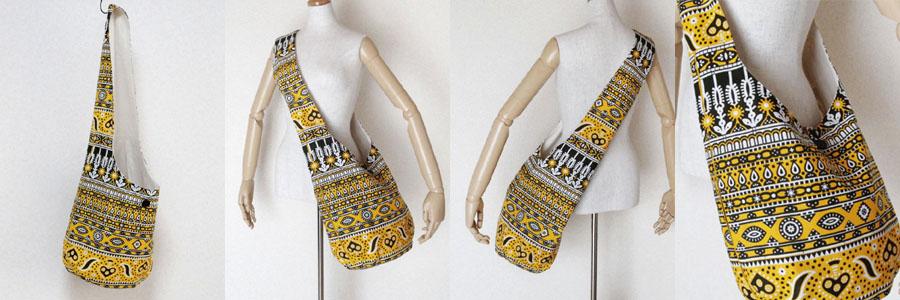 ショルダーバッグ アフリカ布